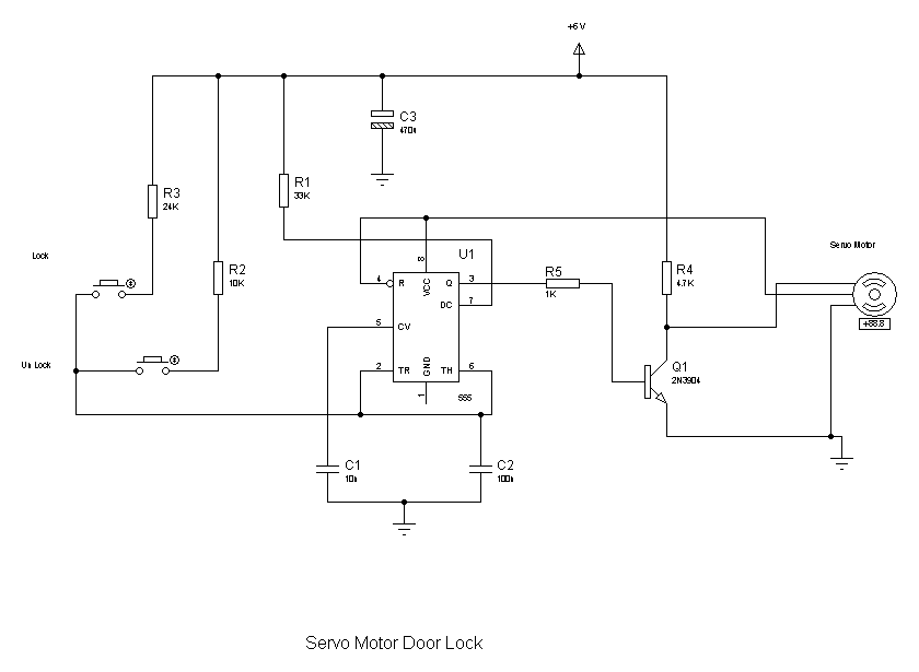 tech tip using a servo motor to operate a door lock simply circuit diagram