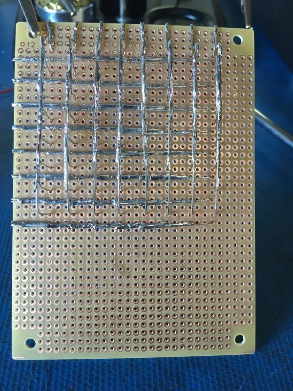 completed led matrix circuit