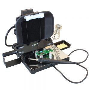 The BlackJack SolderWerks BK2050+ Soldering Station with Working Platform & Fume Extractor is our 3rd ranked Soldering Stations for Hobbyists