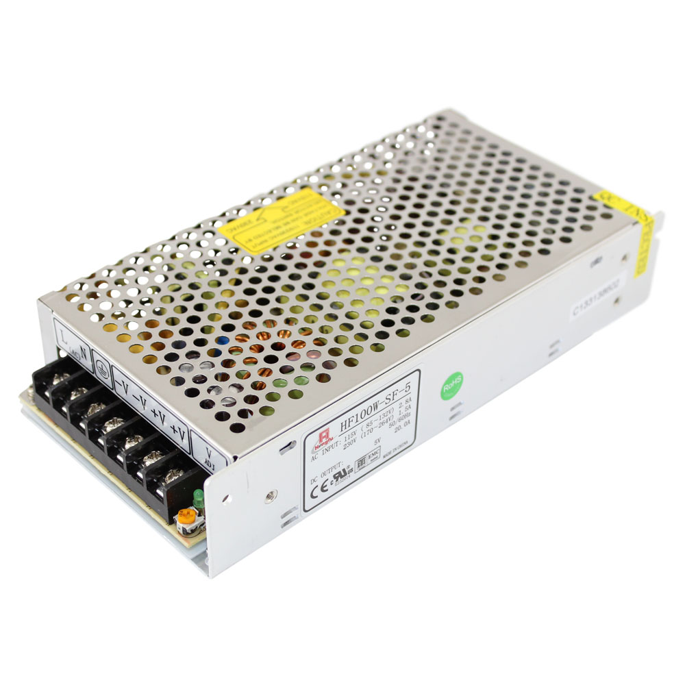 5V Power Supply - 20A Single Output - PS1-100W-SF5