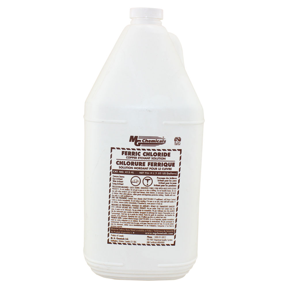 Ferric Chloride Etching Solution, 4 liters