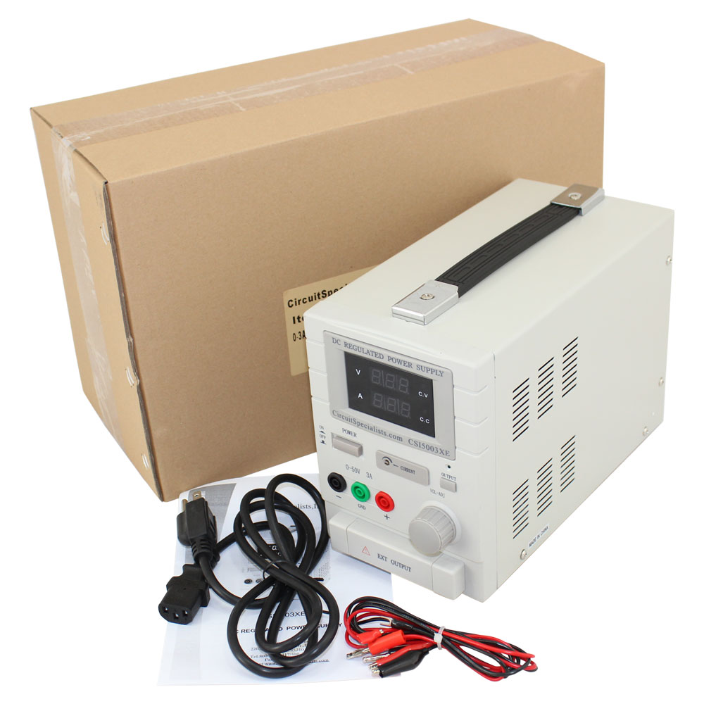 50 Volt DC 3 Amp Linear Bench Power Supply
