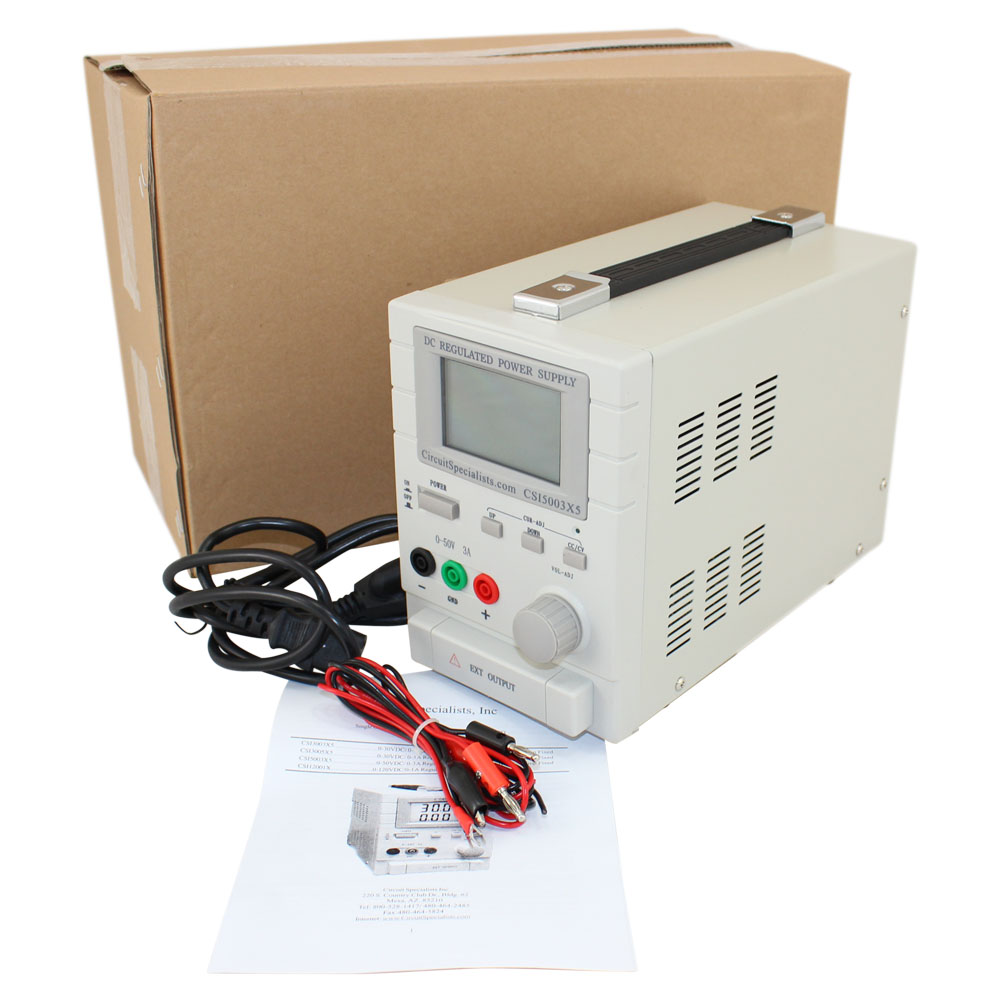 0-50VDC 0-3A / 5VDC 1A, Dual Output Bench Power Supply
