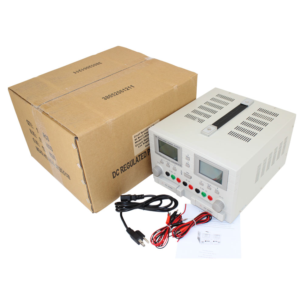 Triple Output 30 Volt DC 5 Amp Linear Bench Power Supply
