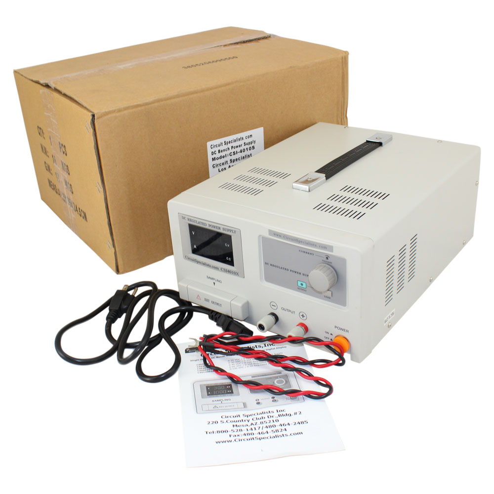 0-40 Volt / 0-10 Amp DC Bench Power Supply w Adjustable Current Limiting