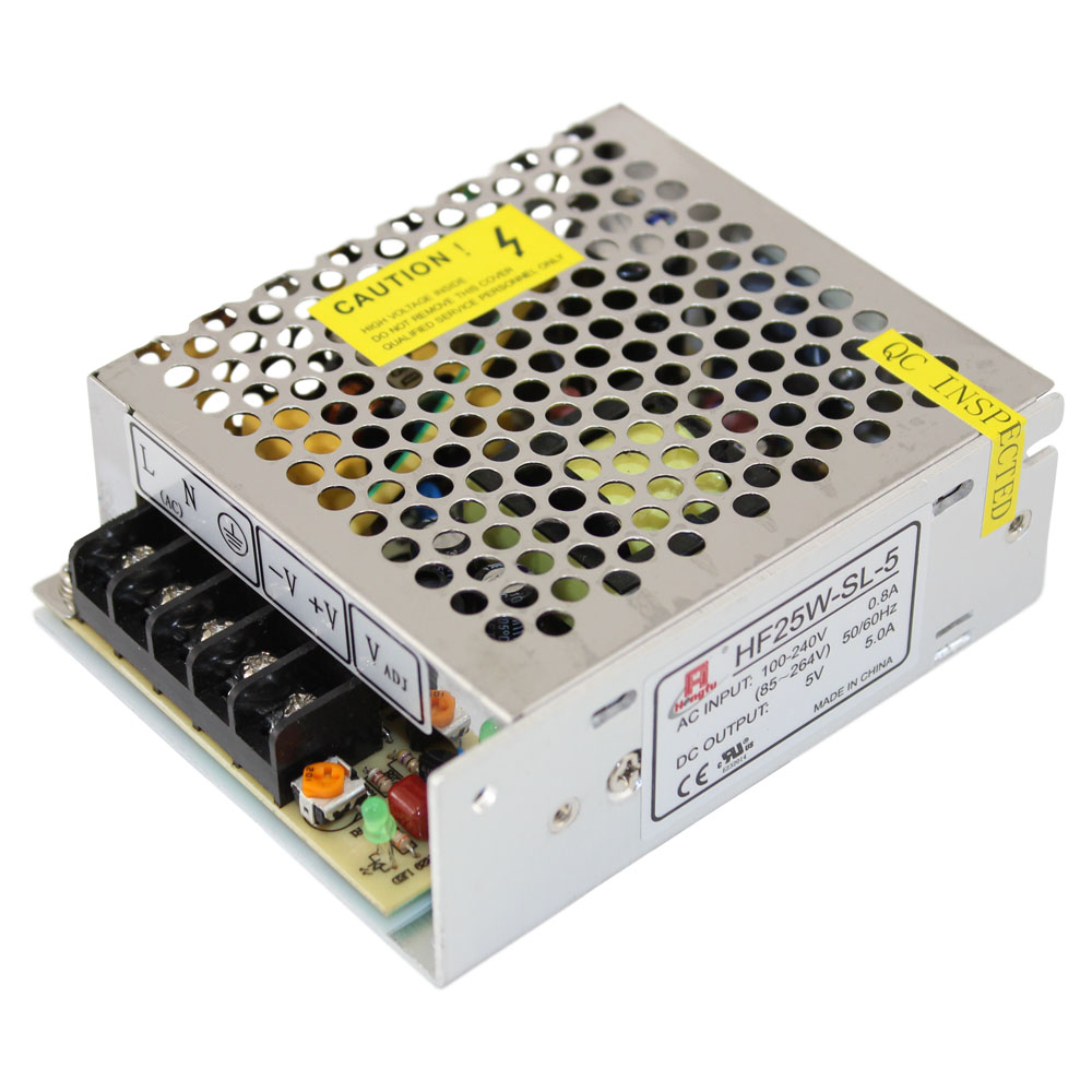 25W 5 VOLT 5 AMP UL APPROVED POWER SUPPLY