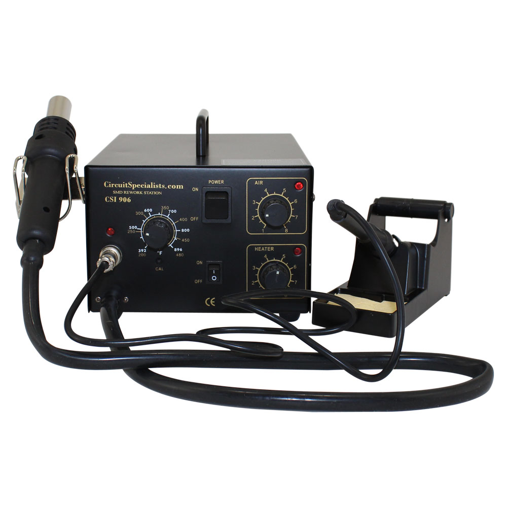 Hot Air Station with Soldering Iron & 16 Nozzle Set