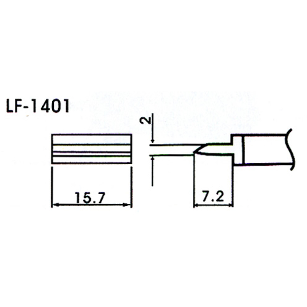 15.7mm Tunnel Type Lead-Free Solder Tip/Element