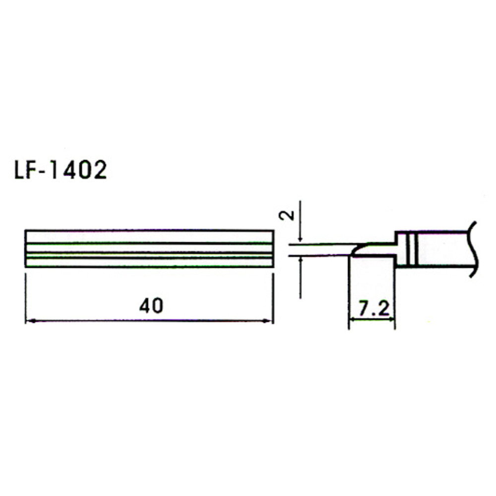 40mm Tunnel Type Lead-Free Solder Tip/Element