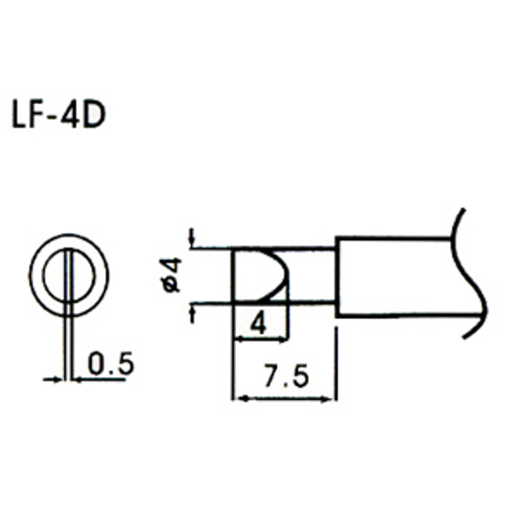 4mm bevel type lead element