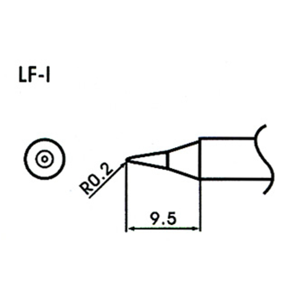 0 2mm conical type lead element lf