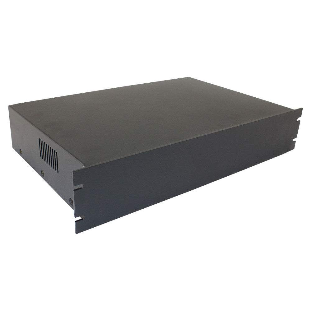 Rack Mount Enclosures : Quot rack mount steel chassis u height and mm deep