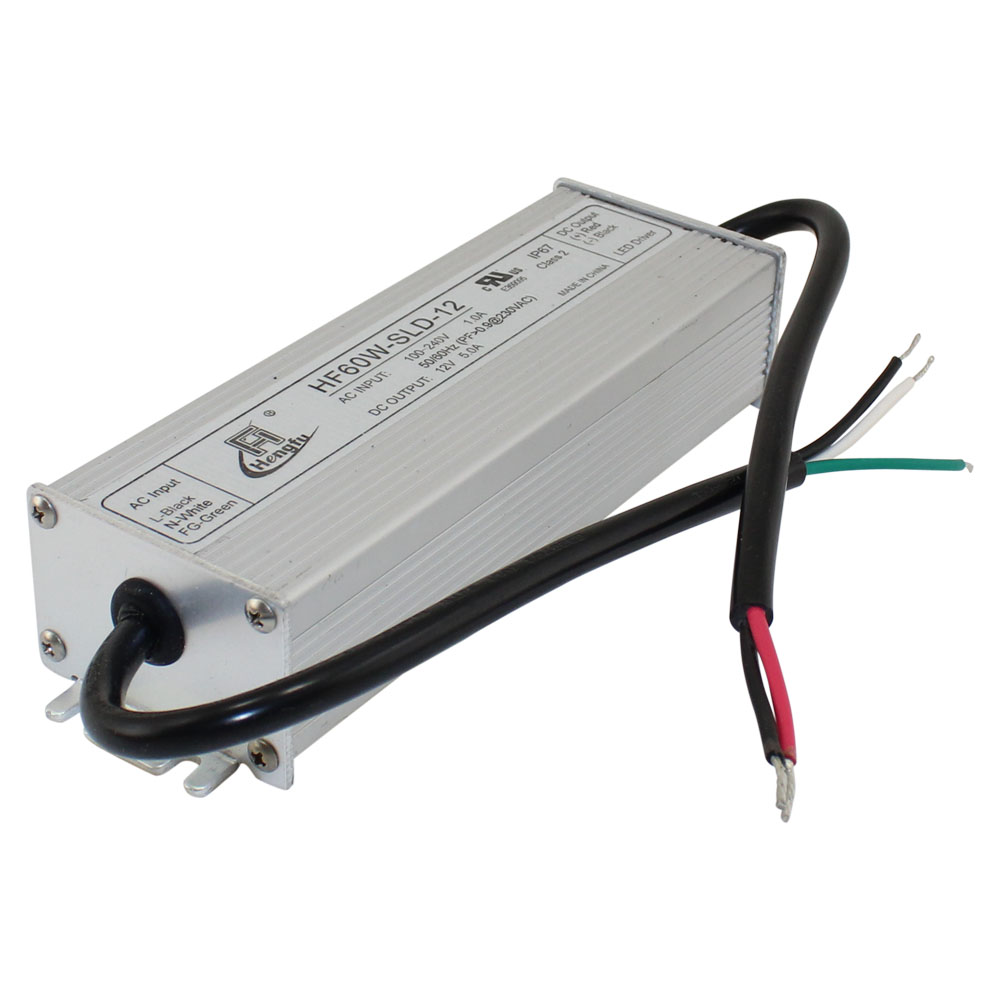 12v power supply 5 0a single output waterproof series for Waterproof dc motor 12v