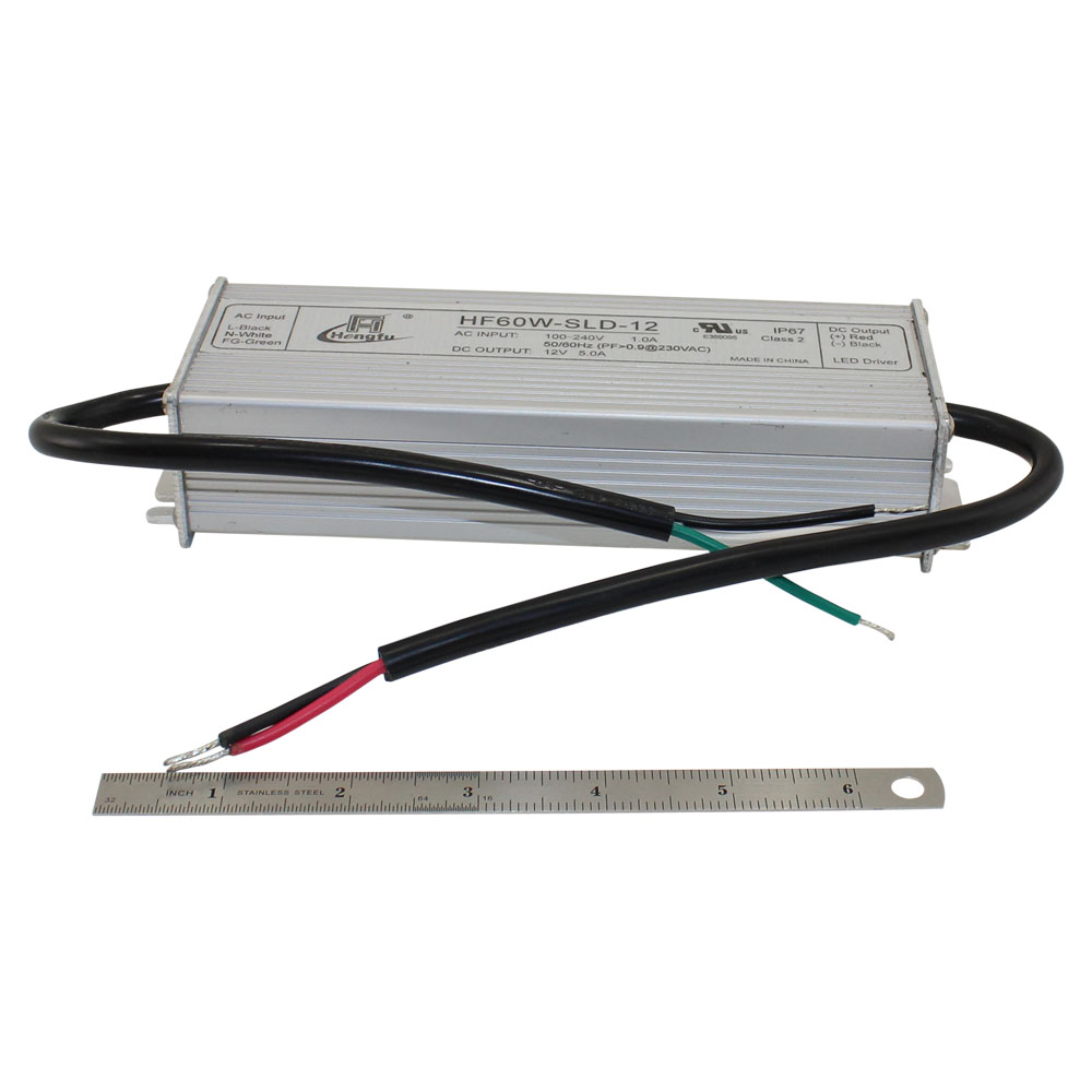 12V Power Supply - 5.0A Single Output - Waterproof Series