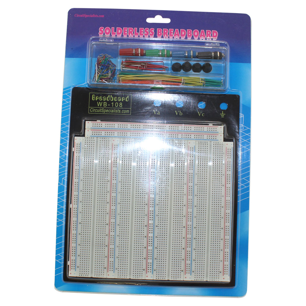 WB-108+J Solderless Breadboard with Jumpers