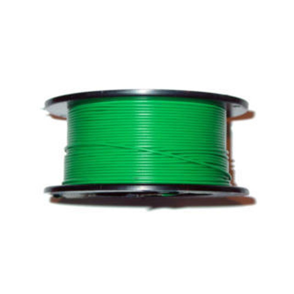 22AWG 100' Solid Green Wire
