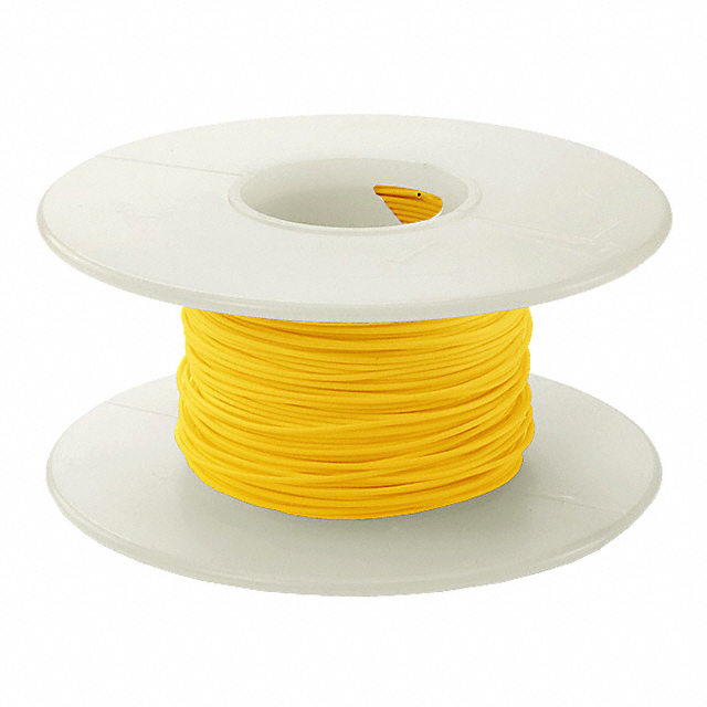 1000' 30 AWG Wire Wrapping Wire - Yellow
