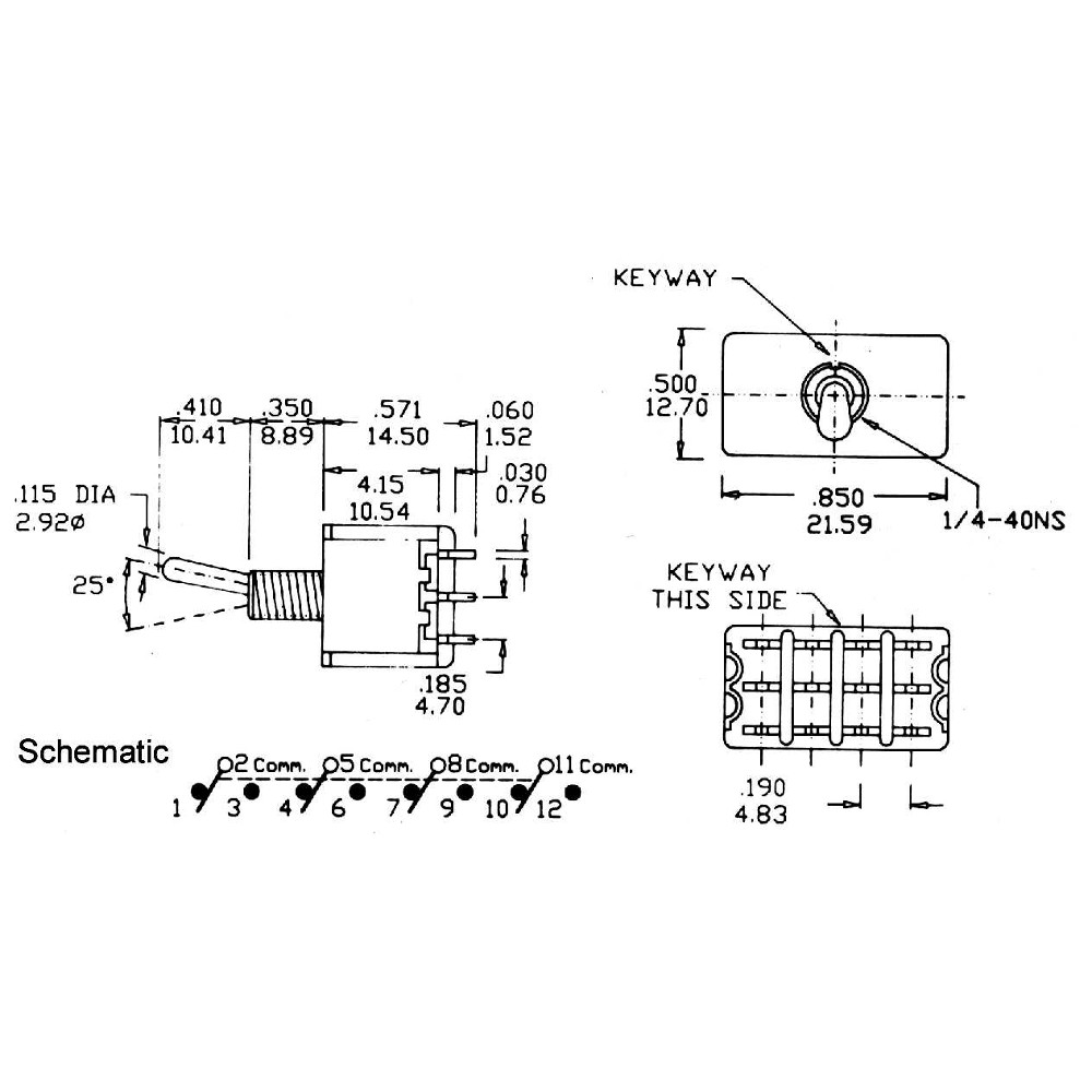 Miniature Toggle Switch On Off 4pdt 8407 Wiring Diagram