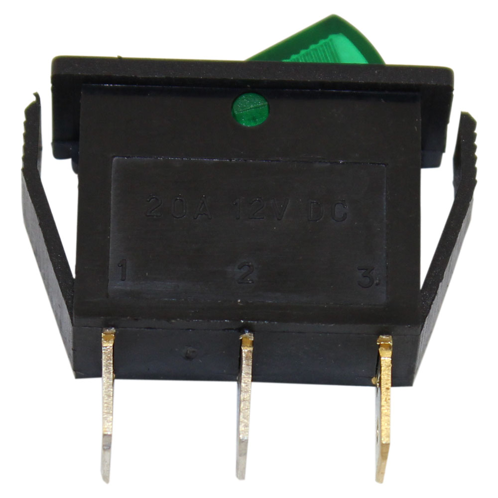 Spst On Off Green Illuminated Rocker Switch And Ptm Circuits