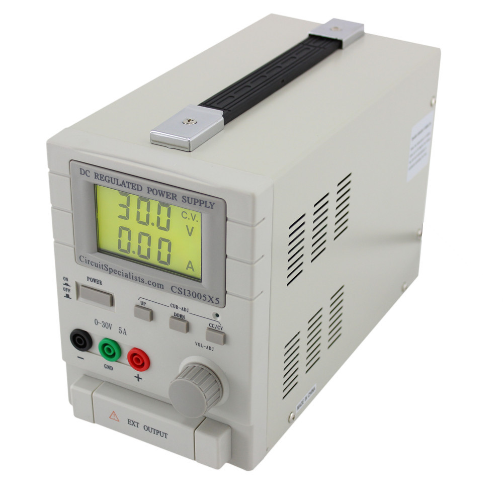 5 Amp Bench Power Supply 0-30 VDC Plus 5V Fixed