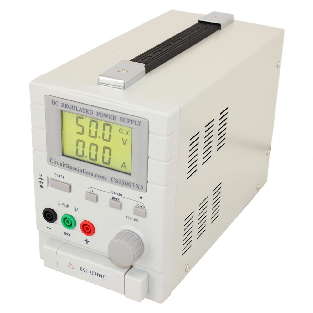 0-50V 0-3A 5V 1A FIXED BENCH POWER SUPPLY
