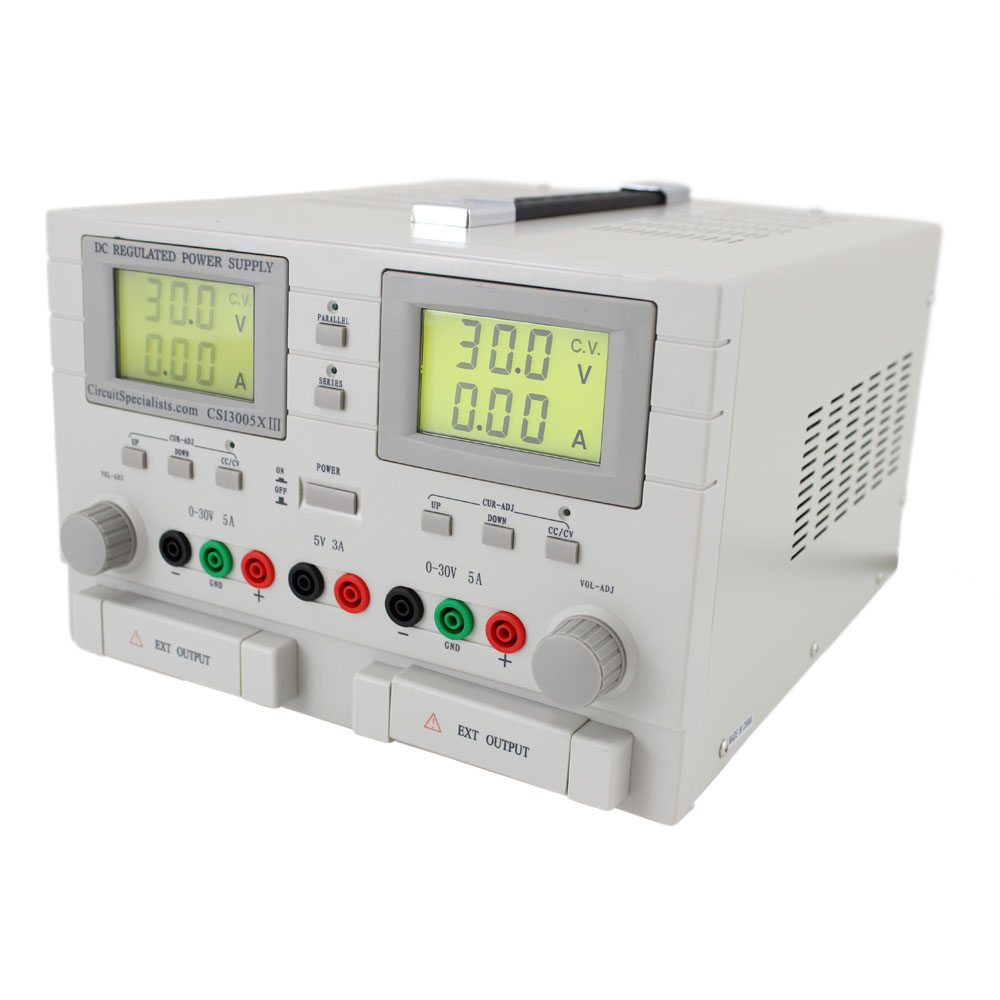 Triple Output Dc Bench Power Supply 0 30v 0 5ax 2 5v Fixed X 1