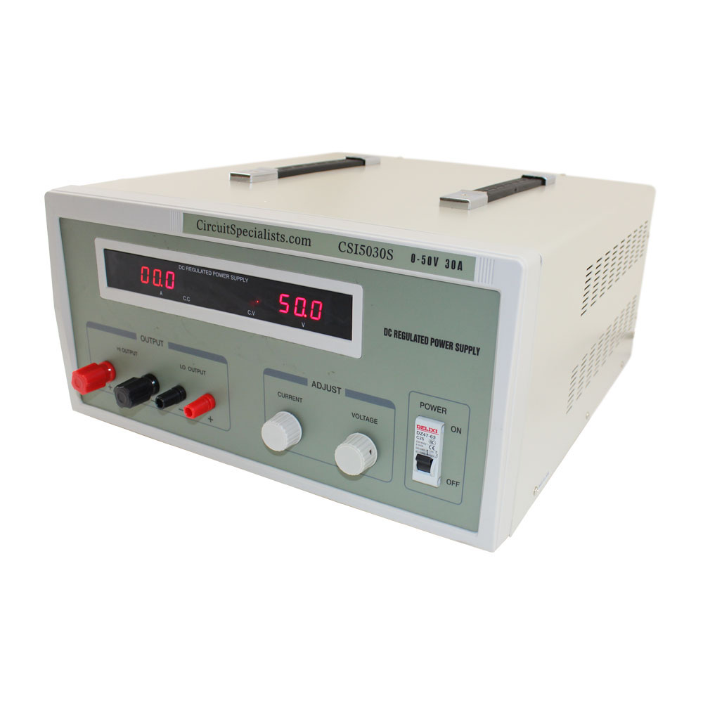 Bench Power Supply, Heavy Duty Regulated Linear 0-50V/0-30A DC