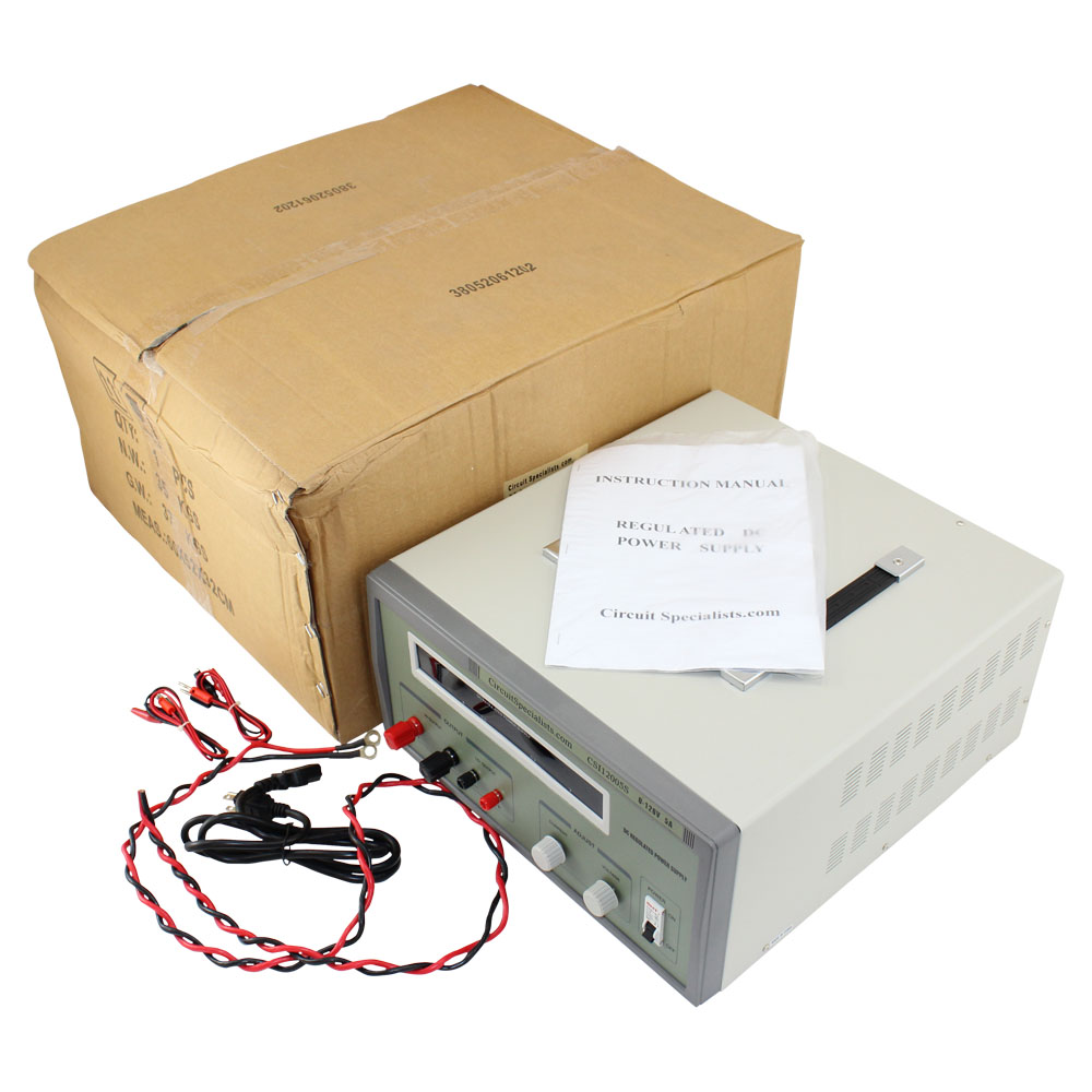 DC Bench Power Supply, Heavy Duty Regulated Linear 0-200V/0-2A