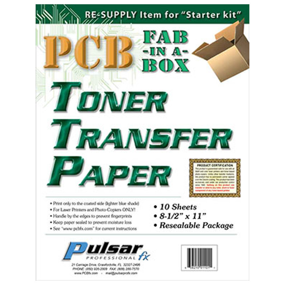 TONER TRANSFER PAPER 10 SHEETS