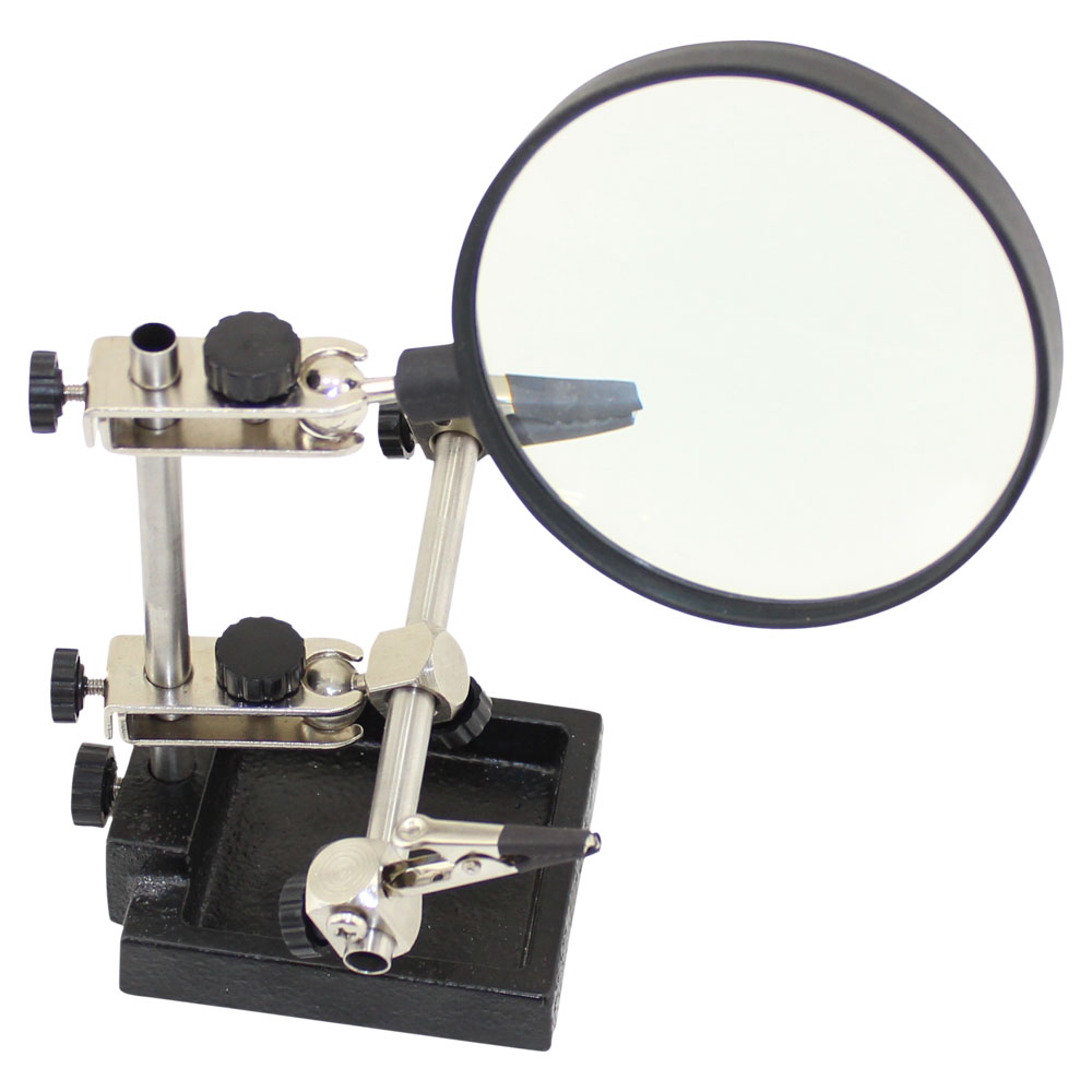 MAGNIFIER WITH HELPING HAND