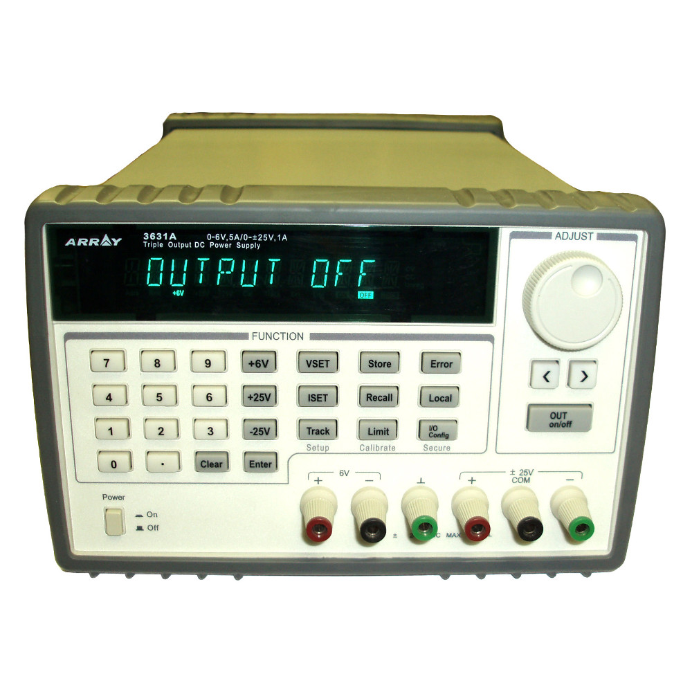 ARRAY ELECTRONICS TRIPLE OUTPUT DC BENCH POWER SUPPLY