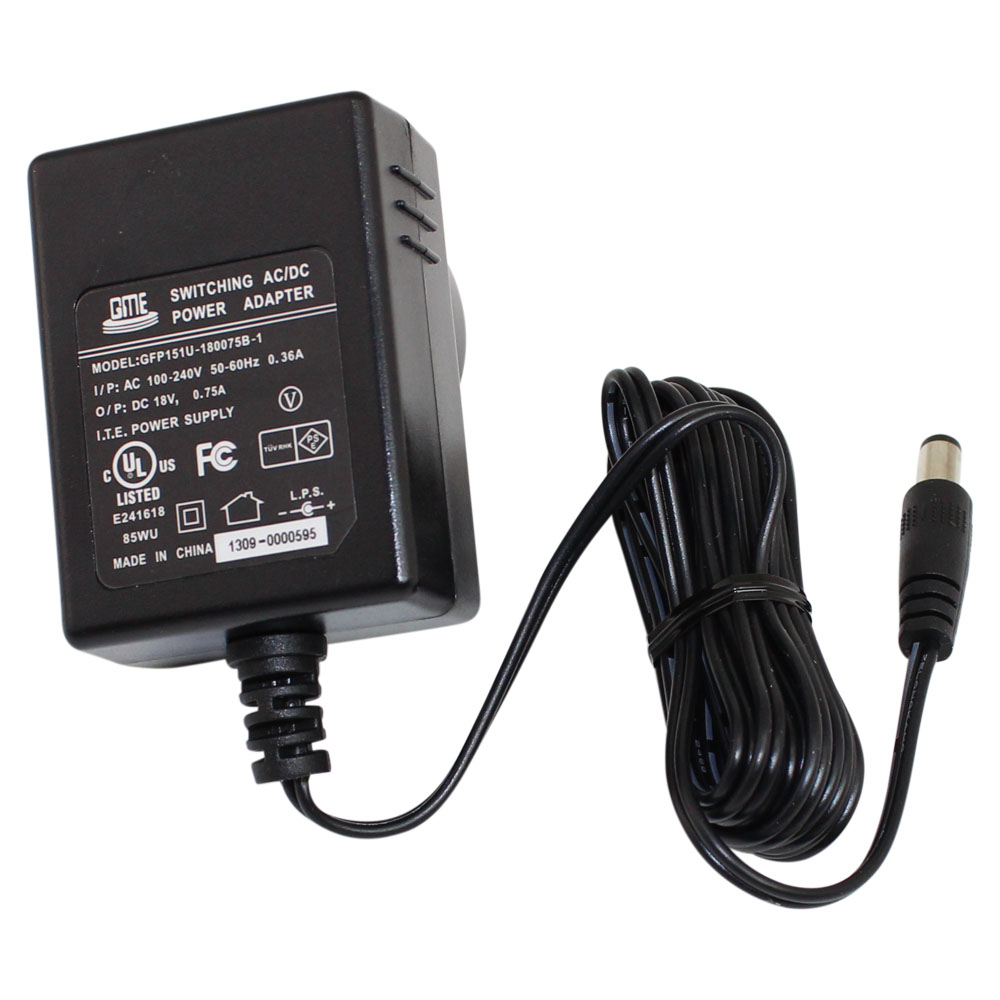 18 Volt 0.75 Amp Plug In Wall Mount Power Supply