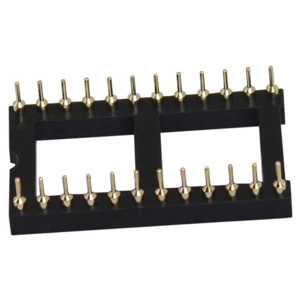 24 Pin Machine Tooled Low Profile IC Socket