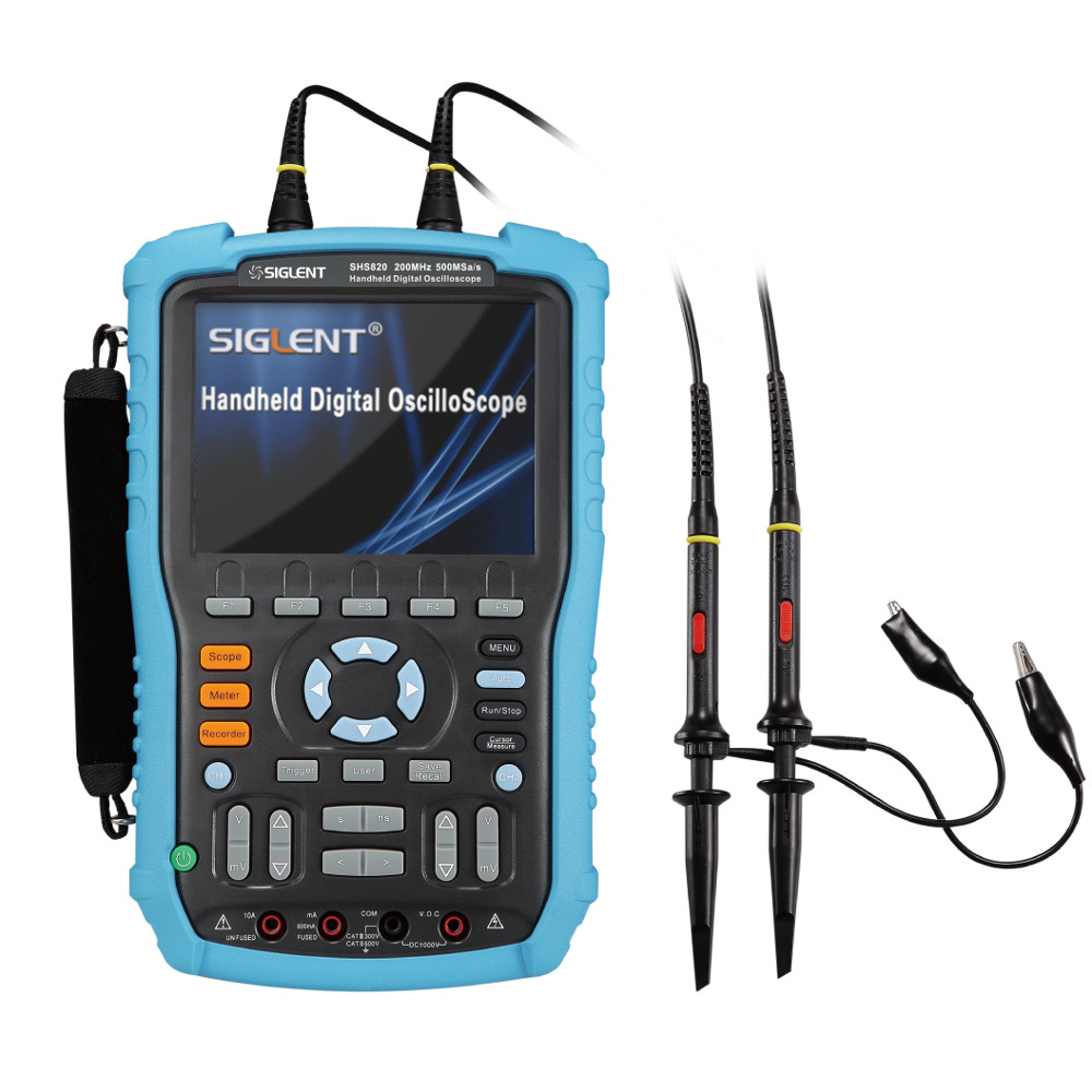 Siglent 200MHz Handheld Digital Storage Oscilloscope with DMM Functions