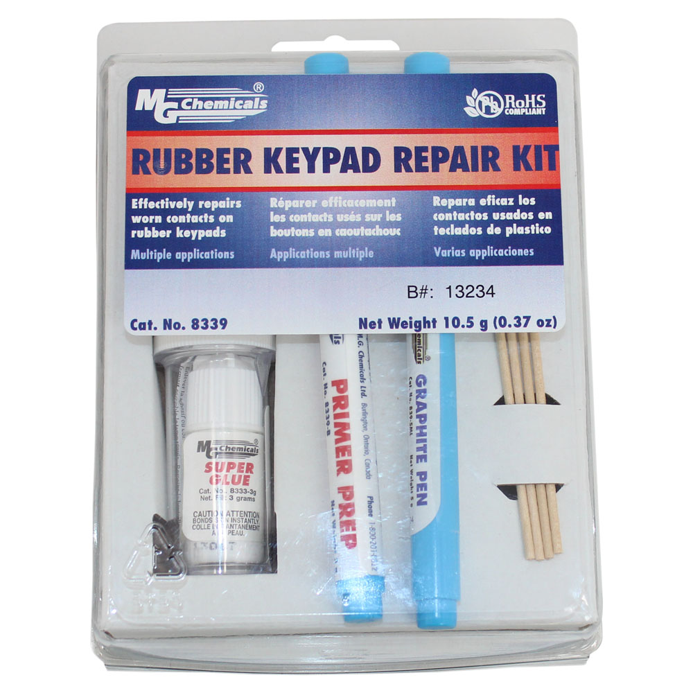Rubber Keypad Repair Kit from MG Chemicals