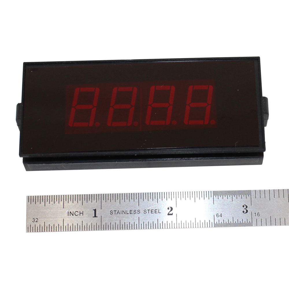 3-1/2 Digit LED Digital Panel Meter - 5V Common Ground, Sealed Enclosure