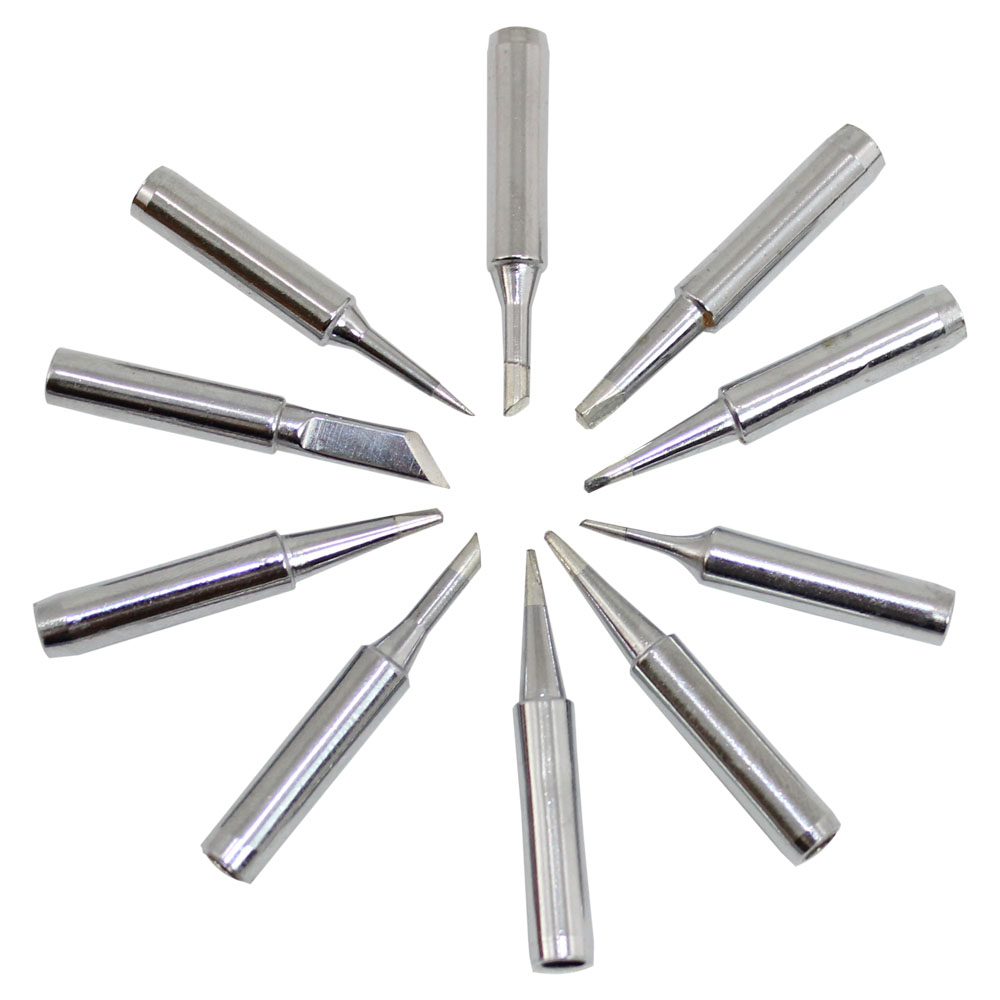 Pack of Ten Assorted Soldering Tips