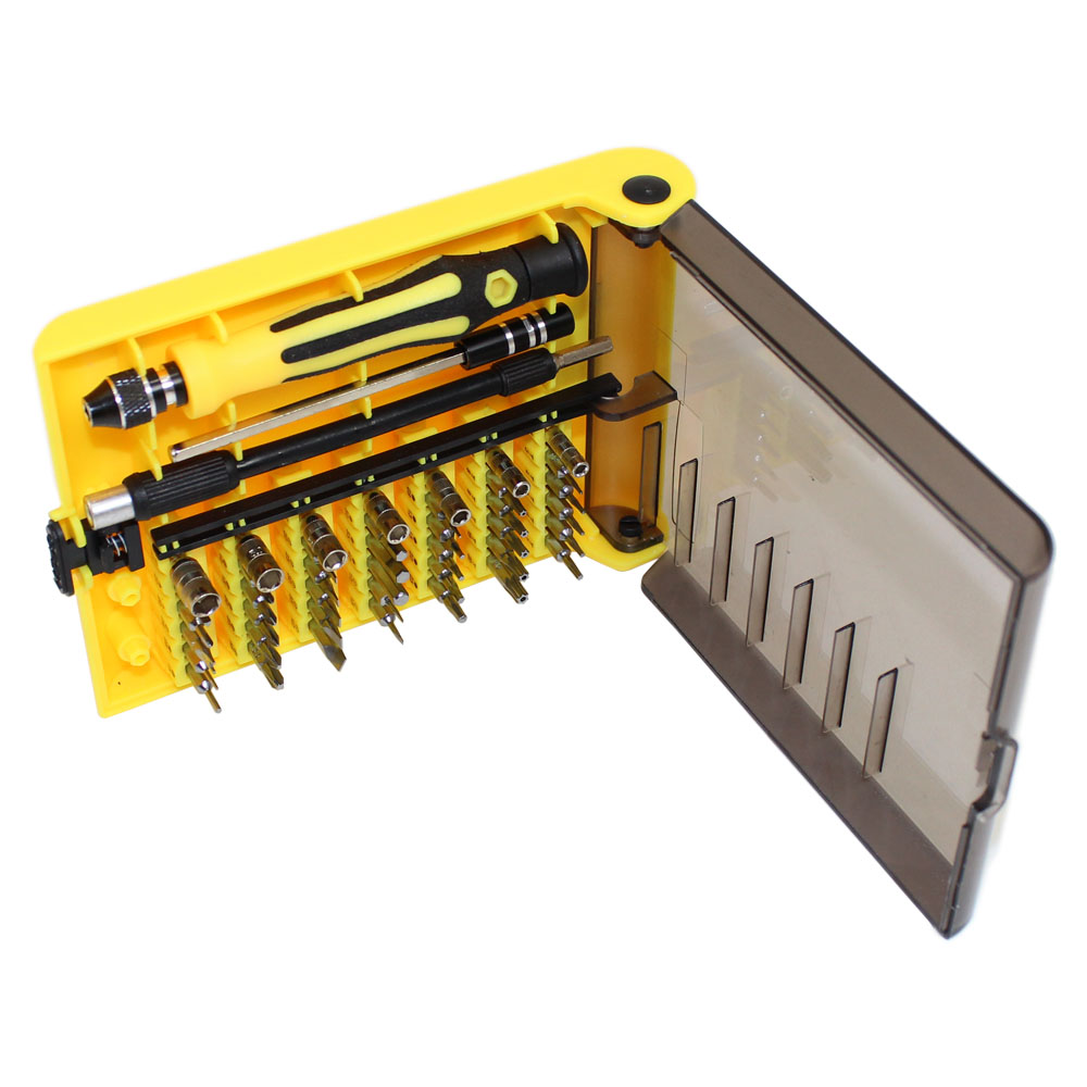 45 Piece Screwdriver Set in Plastic Organizer