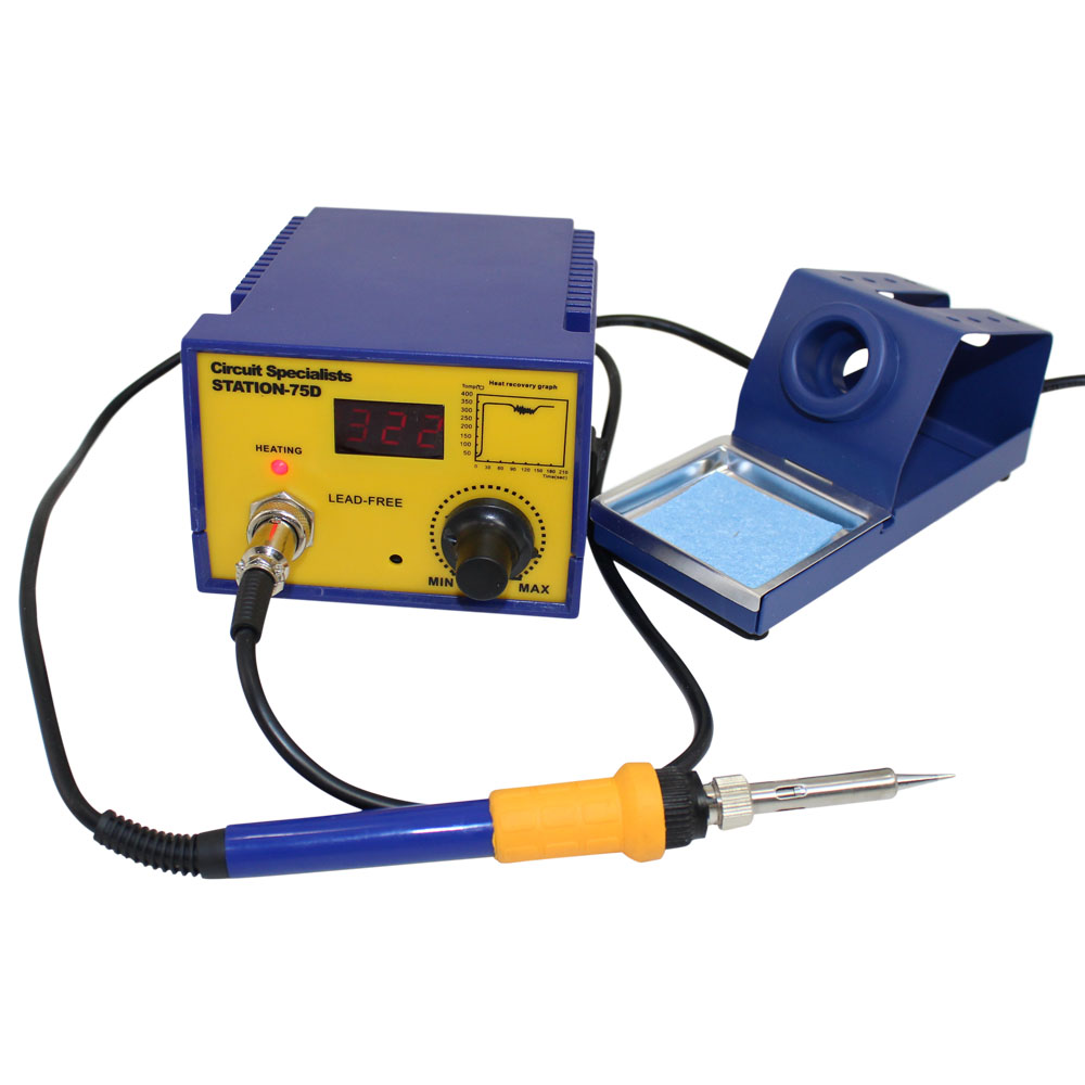 75 WATT SOLDERING STATION WITH DIGITAL  LED DISPLAY