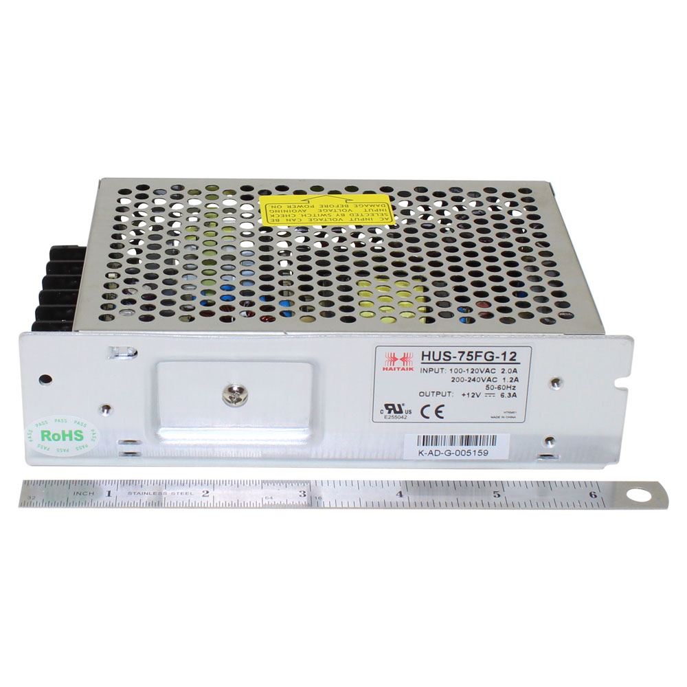 12V Power Supply - 6.3A 75 Watt Single Output