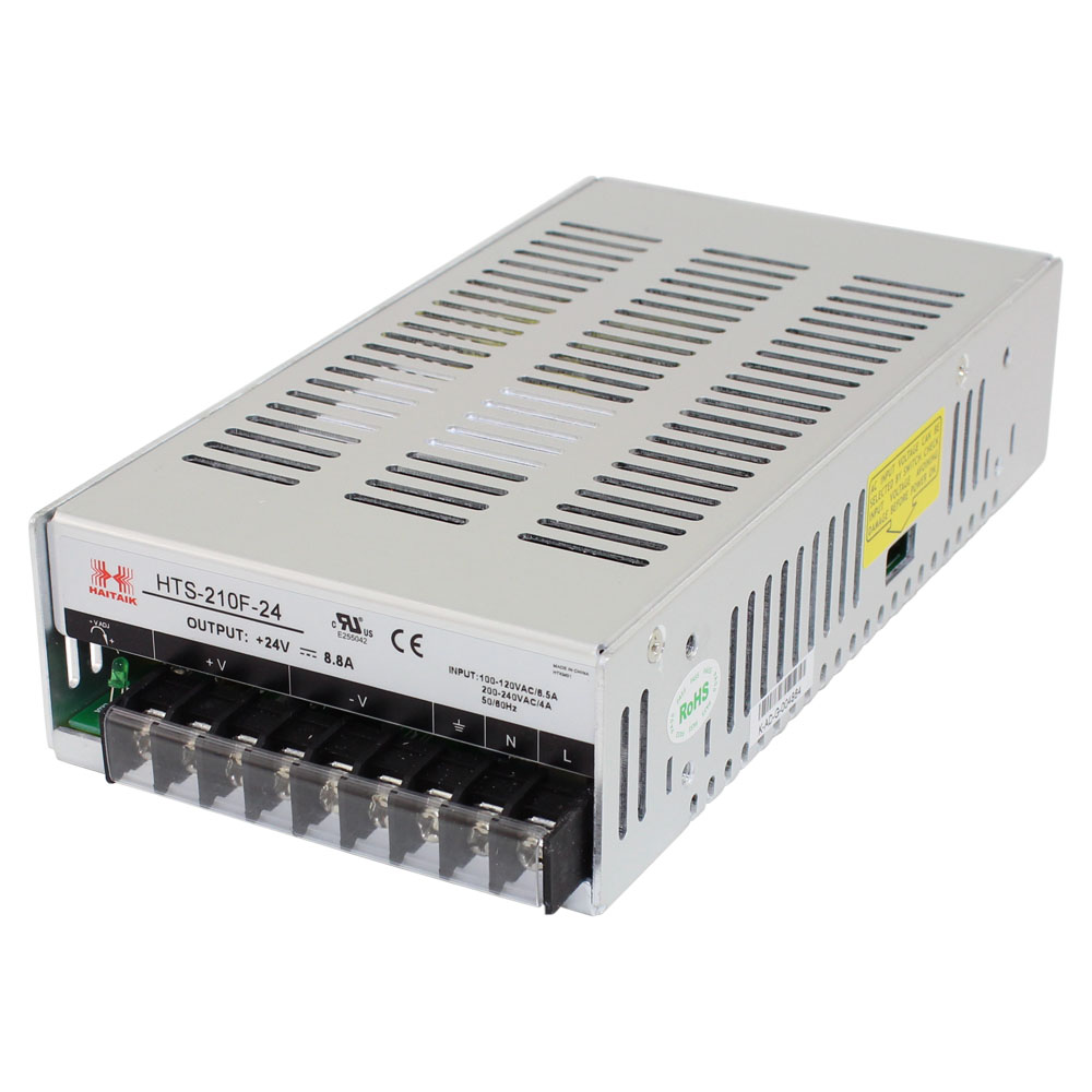 24 Volt Power Supply Enclosed Switching 110 220 Volts Dual 5060hz 20 Amps 88 Amp Single Output