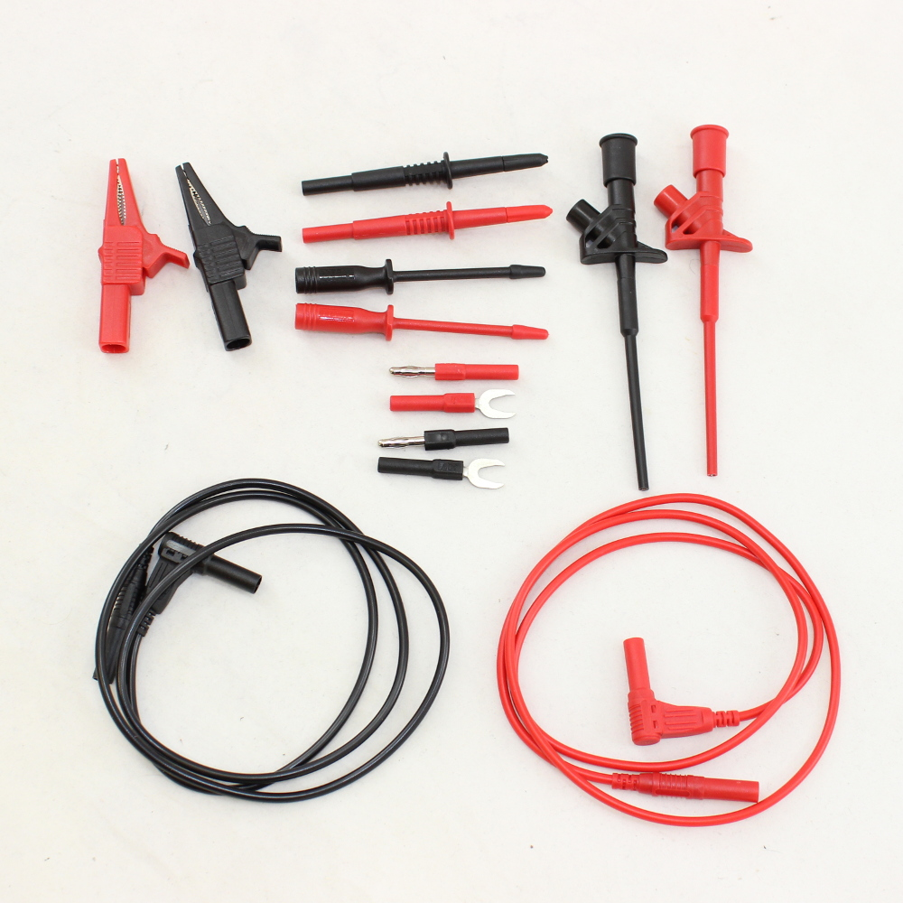 14 Piece Test Lead Kit with Roll Up Bag