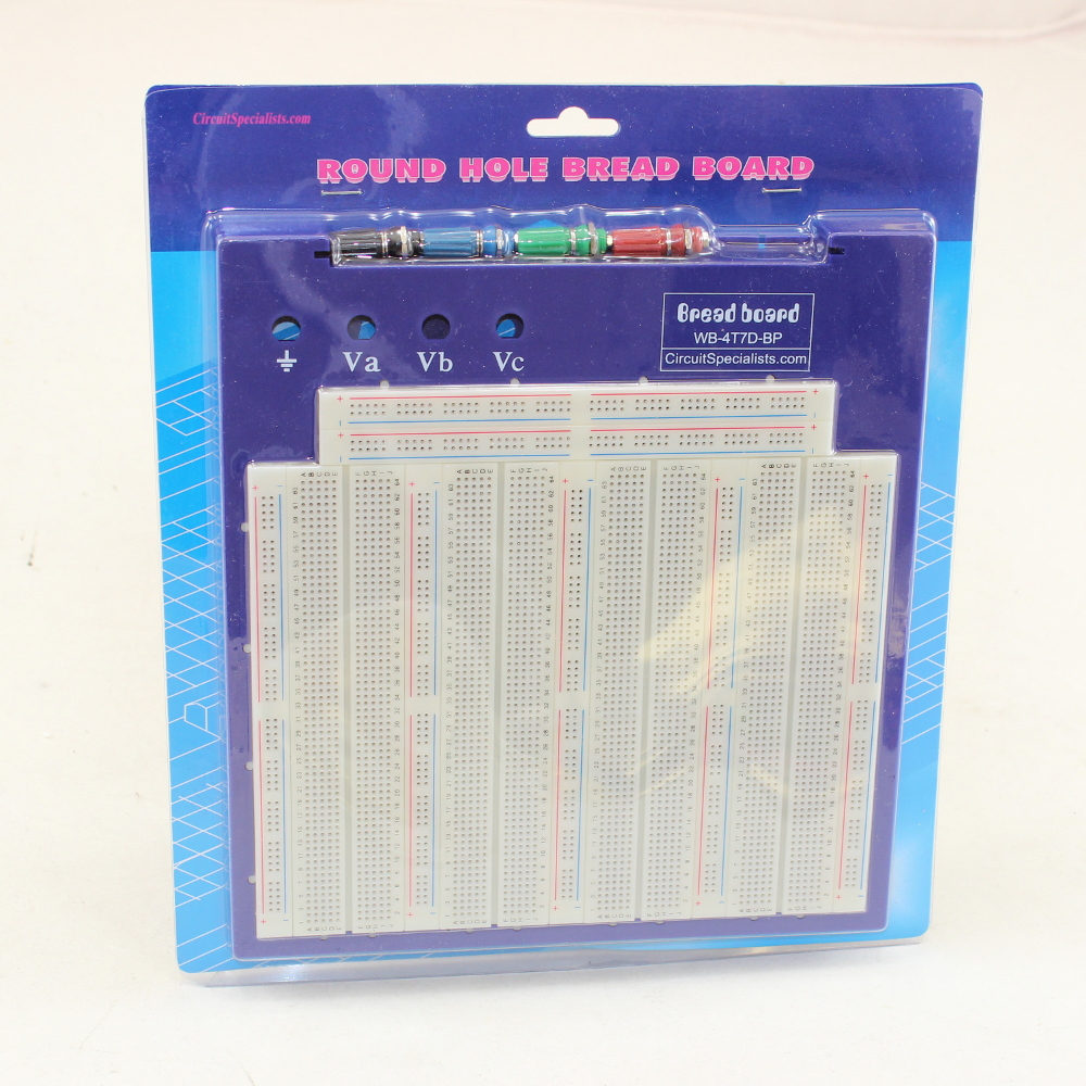 Solderless Breadboard (3260 tie-points) with Binding Posts & Back Plate
