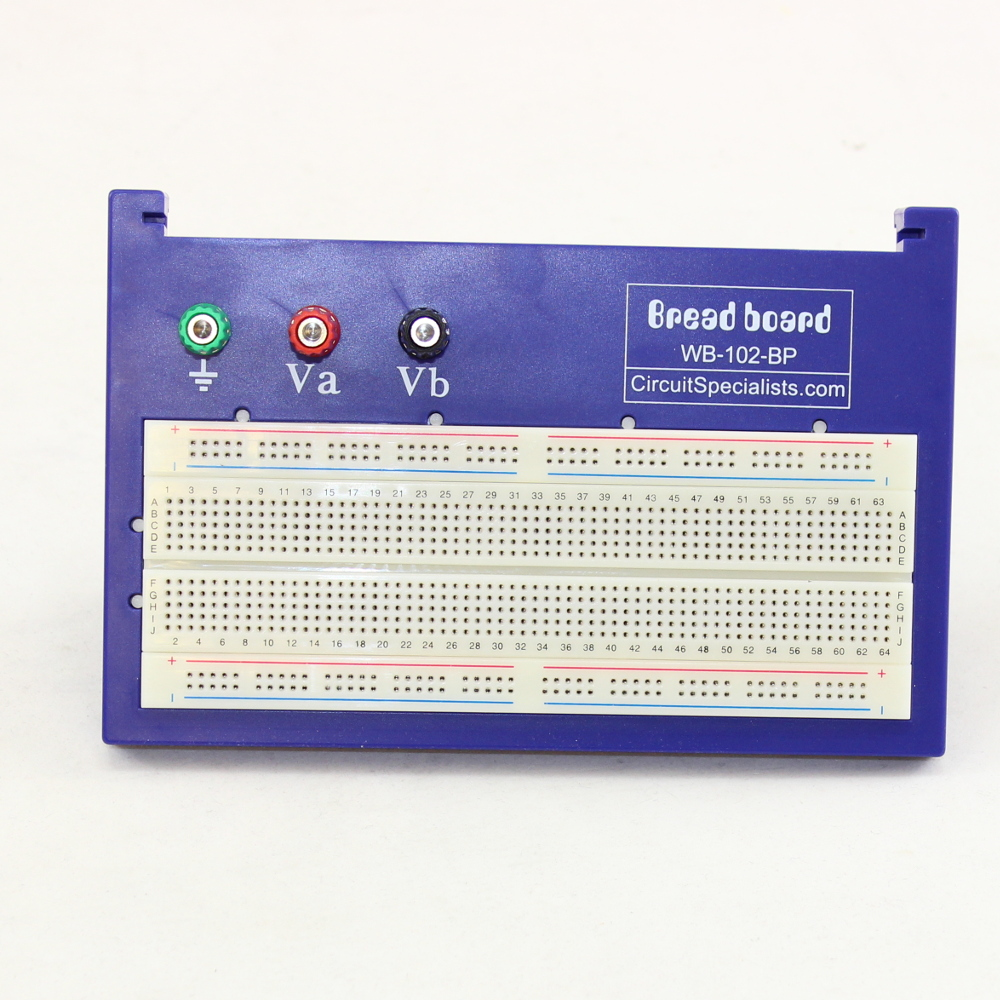 Solderless Breadboard (840 tie-points) with Binding Posts & Back Plate