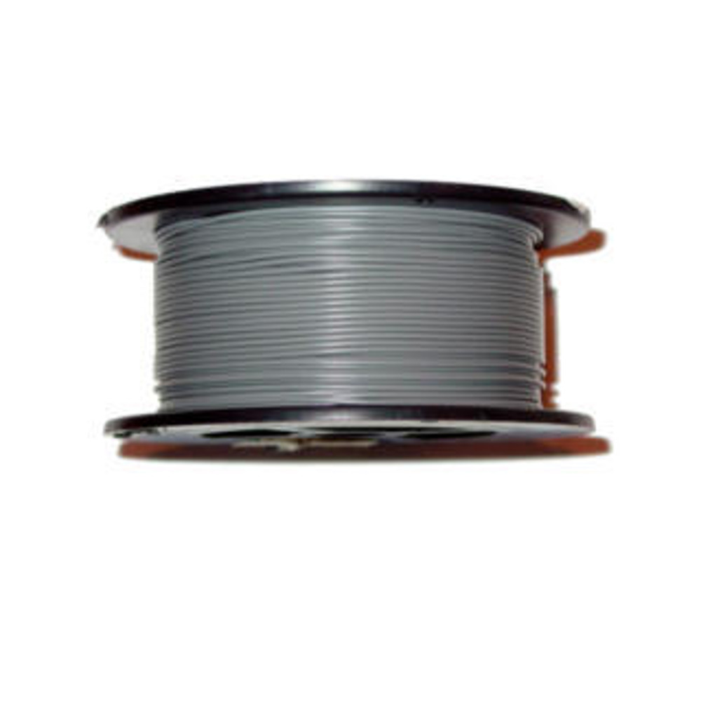 18AWG 100' Solid Grey Wire