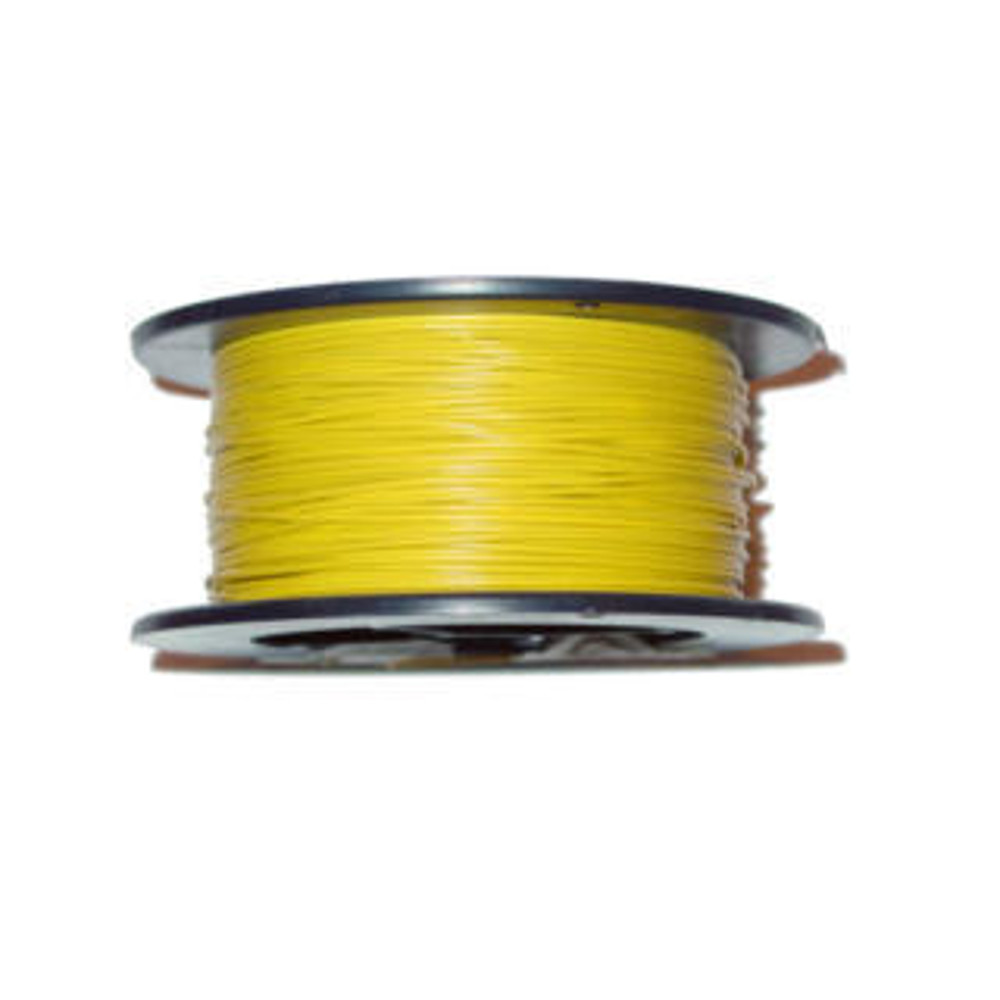 100' 18AWG SOLID HOOK-UP WIRE, YELLOW