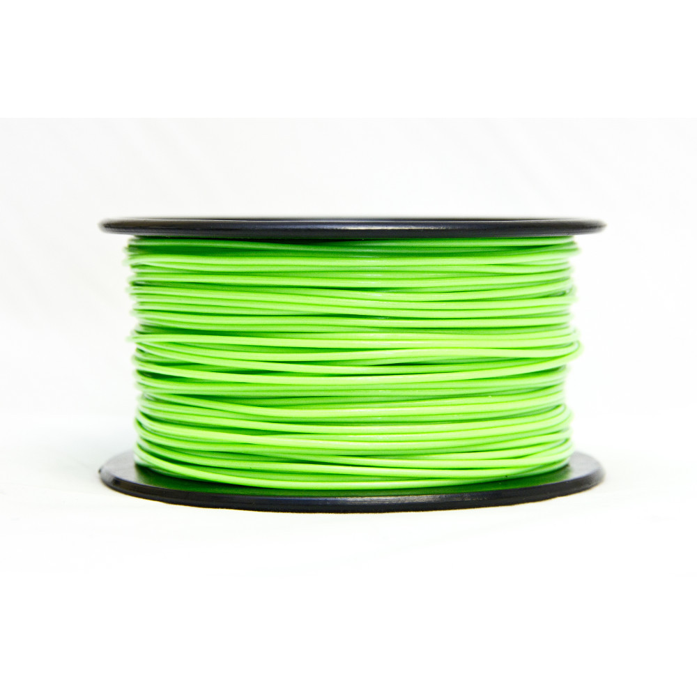 ABS, 3.0 MM, 0.25 KG SPOOL - PREMIUM 3D FILAMENT - GLOW IN THE DARK (GREEN)