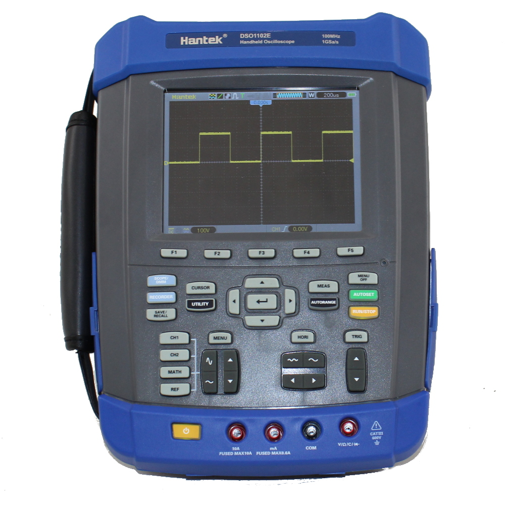 Hantek DSO1102E 100MHz Digital Storage Oscilloscope with Waveform Recorder & DMM
