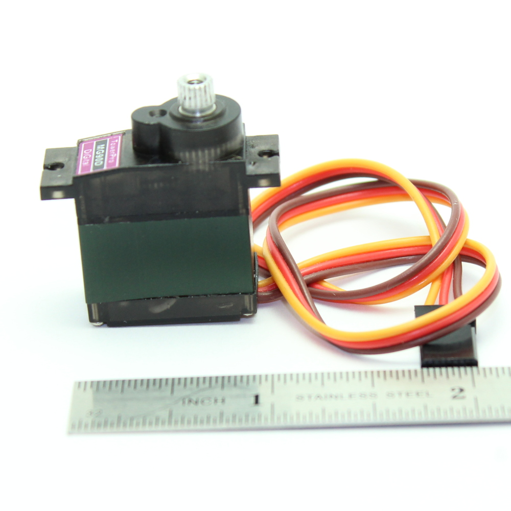 MG90D Digital 9g Servo with 120° Rotation, Metal gear & double ball bearings