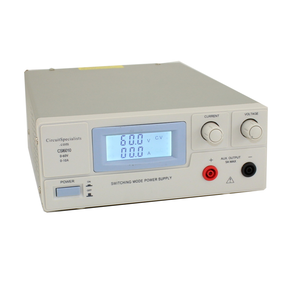0-60V/0-10A SWITCH MODE BENCH POWER SUPPLY